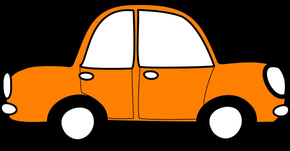 Grafik oranges Auto